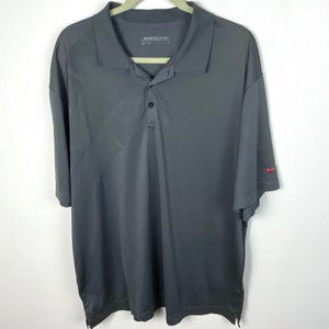 Mens Nike Dri Fit Golf Grey Polo Shirt Grey Sz XXL